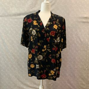 🌺Alfred Dunner Floral Button Down Blouse🌺
